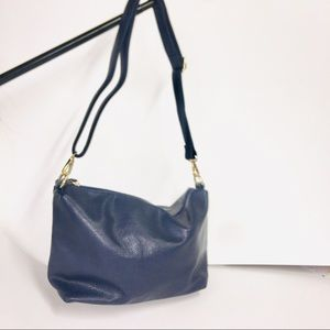 Blue photo leather new with tags shoulder bag